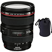Canon 24-105mm L Lens (WHITE BOX) + Lens Carrying Pouch