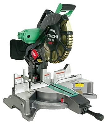 Factory-Reconditioned: Hitachi C12FDH 15 Amp 12-Inch Dual Bevel Miter Saw with Laser