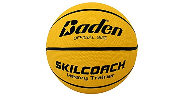 Baden SkilCoach - Balón de Baloncesto de Goma, Color Amarillo ...
