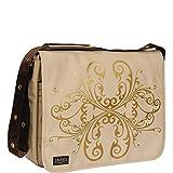 Laurex 17'' Laptop Messenger Bag (Beige Butterfly)