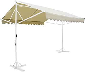 Furnituredeals Toldo para Balcon Toldo Independiente 3x3 m Color Crema sombrillas terraza: Amazon.es: Jardín