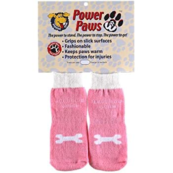 Amazon Com Power Paws Traction Socks For Dogs L Pink W