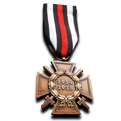 Military Medal The Honour Cross of the World War 1914/1918 WW1 German Hindenburg Cross Repro - German Ribbon
