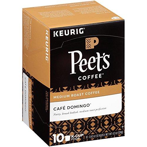 Peet's Coffee Cafe Domingo Medium Roast Single Cup Coffee for Keurig K-Cup Brewers 40 count by Peet's Coffee
