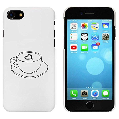 Blanc 'Café Avec Coeur' étui / housse pour iPhone 7 (MC00061744)