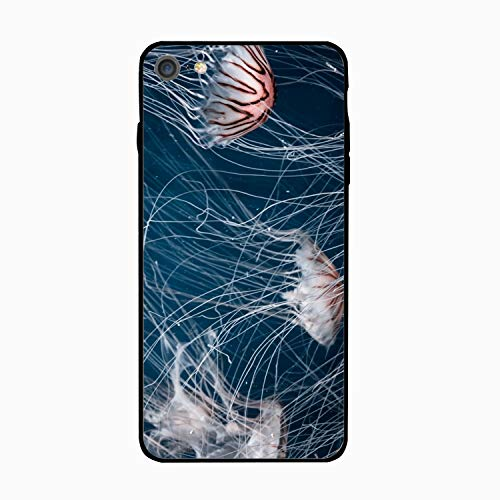iPhone 6 Case,iPhone 6s Case,Jellyfish in Underwater for Girls Women Best Protective Rubber Slim Fit Thin Phone Case Compatible for iPhone 6/iPhone -