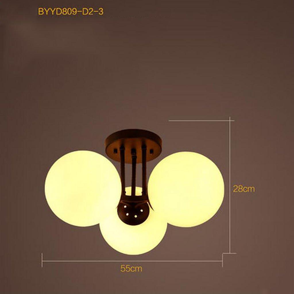 シンプルなアメリカンスタイルの天井ランプ、子供用のベッドルームの天井ランプ (色、シンプルなモダンなリビングルームの照明 : (色 : 9頭) B07DVYR915 3頭 3頭 3頭, 三岳村:e8026545 --- m2cweb.com