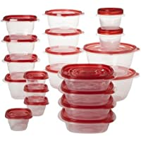 40-Count Rubbermaid TakeAlongs Food Storage Container Set (Ruby Red)