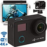 ZEUS Premium 4K Action Camera - New 2019 HD Sports Camera Kit - WiFi Live Action Cam - 16MP Sony Sensor 1080p - Mini Action Camera - Small Sport Camera with Remote Control & Case - 2 Battery Included