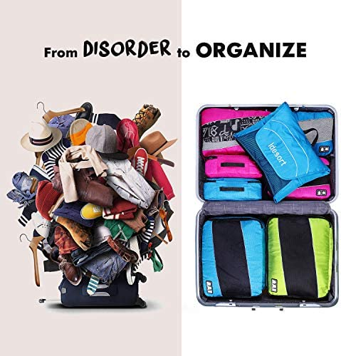 Packing Cubes Luggage Bags Organizer Durable Travel Accessories With Clothing Label