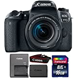 Canon EOS 77D 24.2MP DSLR Camera with 18-55mm IS STM Lens and 16GB Memory Card
