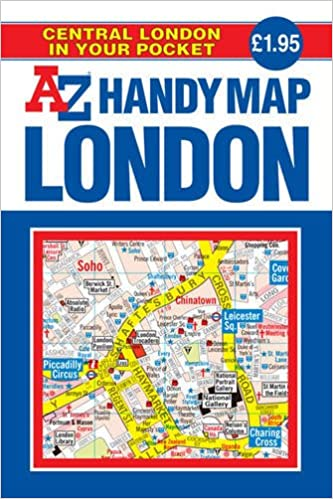 Az Street Map Of London.Handy Map Of Central London A Z Street Maps Atlases Geographers