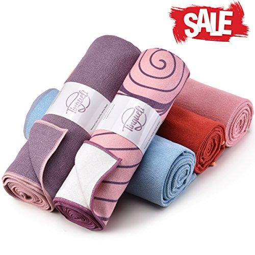 Hot Yoga Towel - Quick Drying, Non Slip, Sweat Absorbing Hot Yoga and Bikram Towel