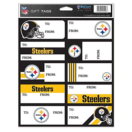 NFL Pittsburgh Steelers Gift Tag Sheet