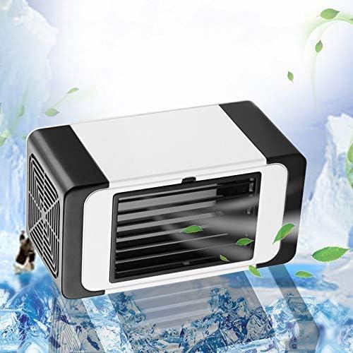 Mini Aire Acondicionado Portátil USB con Luz de Noche - 4 en 1 Ventilador, Purificador de Aire,Humidificador - Enfriador de Aire de Espacio Personal para Hogar/Oficina/al Aire Libre: Amazon.es: Hogar