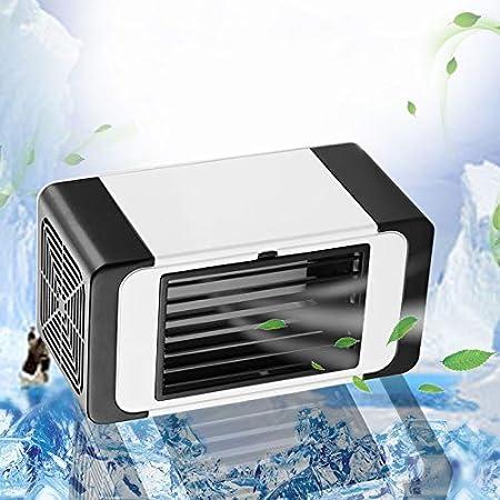 CAOQAO Mini Aire Acondicionado portátil Refrigerador Mudo del Ventilador de la Mini computadora de Escritorio del hogar del refrigerador de Aire del USB pequeño: Amazon.es: Hogar