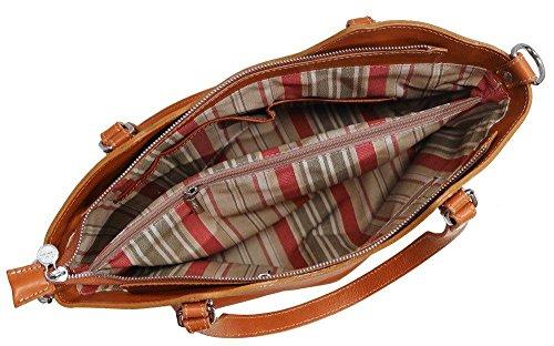 Floto Ischia läder axelväska handväska handväska