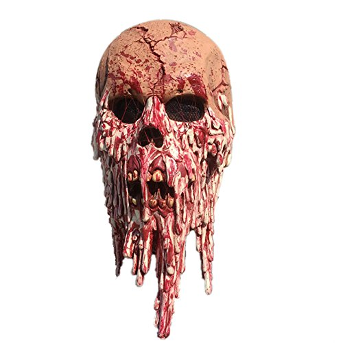 CHUNNUAN Halloween Head Mask Terrifying Ghostface Model Environmentally Friendly Latex Masks for Party Ball Bar (C) (All Ghostface Costumes)