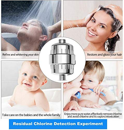 Shower Filter, 15-Stage High Output Luxury Universal Shower Filter (Chrome) with Replaceable Filter Cartridge Prevents Hair and Skin Dryness, Remove Chlorine and Heavy Metals, Soften Hard Water by Billion Xin (Image #3)