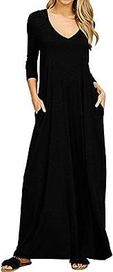 Vestiti Eleganti Donna Economici.Bazhahei Donna Abito Con Cappuccio Casuale Sciolto Abiti Tascabile