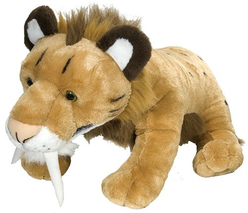 Wild Republic Jumbo Smilodon Plush, Giant Stuffed Animal, Plush Toy, Gifts for Kids, 30""
