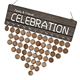 MagiDeal Family Friends Wooden Calendar Board Birthday Anniversary Day Reminder Home Wall Hanging Decor Sign