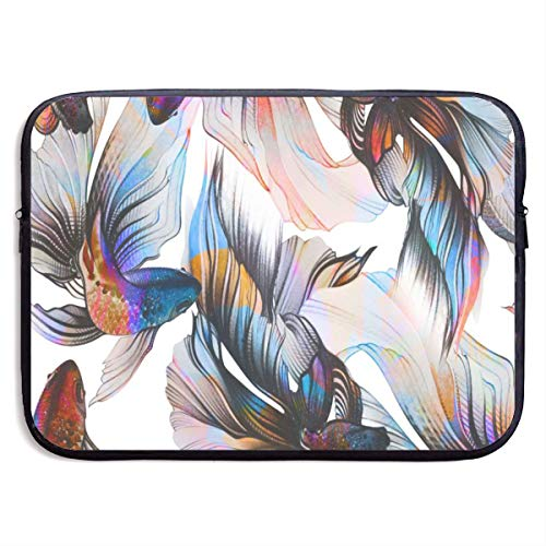 Waterproof Laptop Sleeve 13 Inch, Watercolor Goldfish Art Business Briefcase Protective Bag, Computer Case Cover for Ultrabook, MacBook Pro, MacBook Air, Asus, Samsung, Sony, Notebook