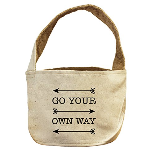 Go Your Own Way #1 Canvas and Burlap Storage Basket Basket (Tampa Gift Baskets)
