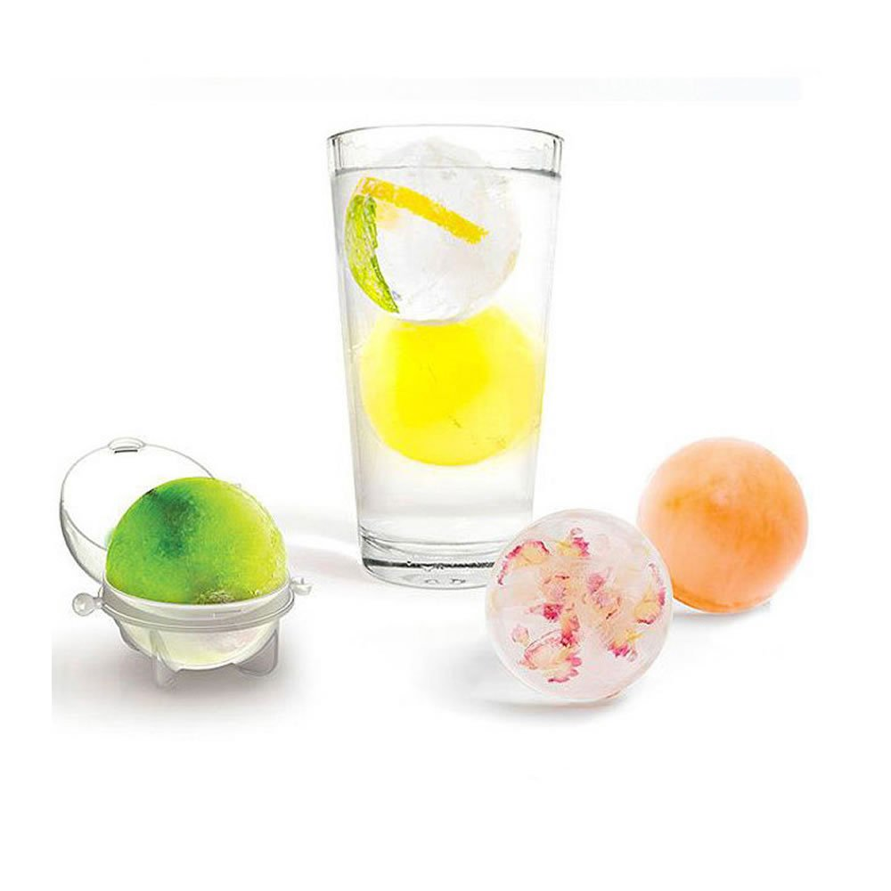 WSERE 10 Pieces Ice Ball Sphere Ice Mold for Whiskey Cocktails Beverages and More, Keep the Drink Cool Effectively