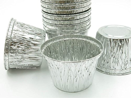 Disposable Aluminum 7 oz. Baking Cups/Cake Cups/Dessert Cups #1210NL (No lids) (500) by AGIANT
