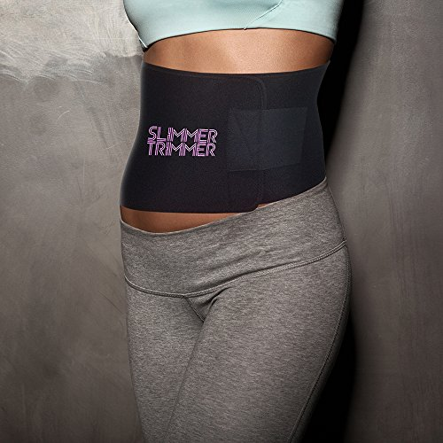 Slimmer Trimmer Premium Waist Trimmer - Weight Loss Sweat Belt Waist Trainer for Women & Men Adjustable Thermal Stomach Slimming Wrap. Belly Fat Burner, Abdominal and Lower Back Support by Slimmer Trimmer (Image #5)
