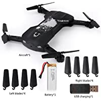 Wenasi Mobile Phone Gravity Sensing Remote Control Fold-able Aerial Four - axis Aircraft(Black)