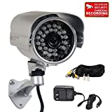 Cheap VideoSecu 700TVL Bullet Surveillance CCTV Security Camera Built-in SONY Effio CCD Outdoor Day Night IR Infrared Wide Angle High Resolution with Bonus Power Supply and Extension Cable 1YW