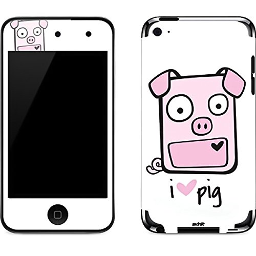 Animal Illustration iPod Touch (4th Gen) Skin - I HEART pig Vinyl Decal Skin For Your iPod Touch (4th Gen)