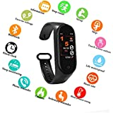 SBA999 AM4 Bluetooth Wireless Smart Fitness Band for Boys/Men/Kids/Women | Sports Watch Compatible with Xiaomi, Oppo, Vivo Mobile Phone | Heart Rate and BP Monitor, Calories Counter