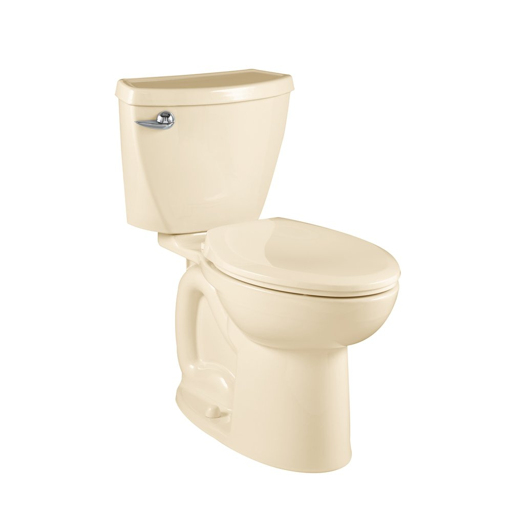American Standard Cadet 3 Compact Right Height Elongated Flowise Two-Piece High Efficiency Toilet with 12-Inch Rough-In, Bone Bone by American Standard