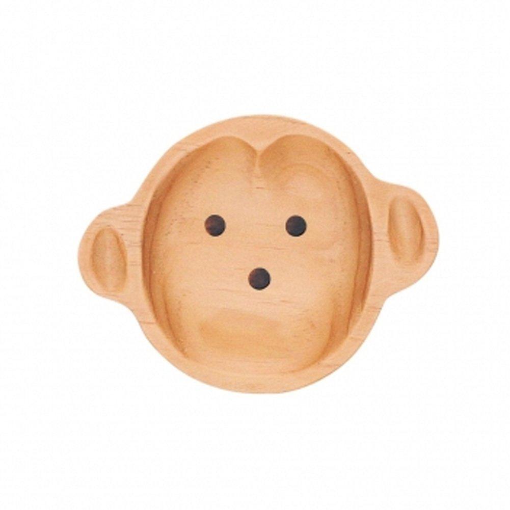 Spice Co. Small Wood Kids Plate (Monkey)