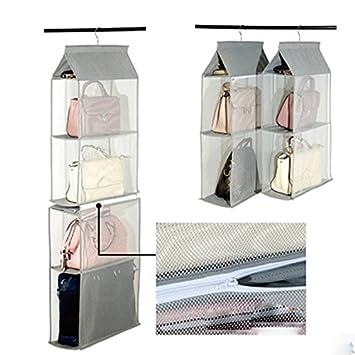 Superbe Lecent@ Homewares Hanging Handbag Organizer Hanging Purse Organizer 4  Pocket Purse Racks Closet Storageu0026Organizers System