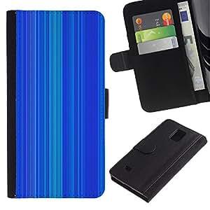 Samsung Galaxy Note 4 IV / SM-N910 Modelo colorido cuero carpeta tirón caso cubierta piel Holster Funda protección - Stripe Pattern Vertical Lines