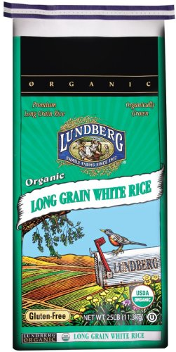 Lundberg Organic White Long Grain Rice, 25-Pound