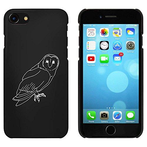 Noir 'Chouette-Effraie' étui / housse pour iPhone 7 (MC00083527)