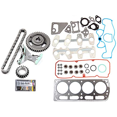 OCPTY Timing Chain Kit for GMC Sonom Chevrolet Cavalier Chevrolet S10 Isuzu Hombre Pontiac Sunfire 2.2L 98 99 00 01 02 03 Gaskets Kit Head Gasket ()