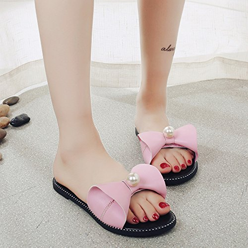 women Bottom Street Slippers The Flat Casual Beat Simple Women'S Casual WHLShoes White slippers Summer Fashion Word TAqxa5ap