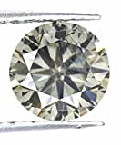 Grayish Color Loose 1.98 Ct Round Cut Moissanite SI3 Sparkling Gemstone
