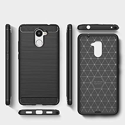 the latest f05b0 67ebd Smartlike Silicon Hybrid Back Cover Clear Thin Case For Huawei Y7 Prime -  Black