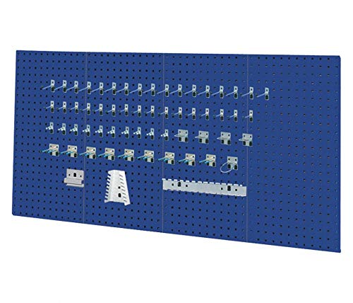 Kennedy Manufacturing 50004BL Kennedy Classic Blue Pegboard Kit, 36'' x 1/2'' x 18'', 18'' Height, 36'' Wide, 0.5'' Length, Pounds
