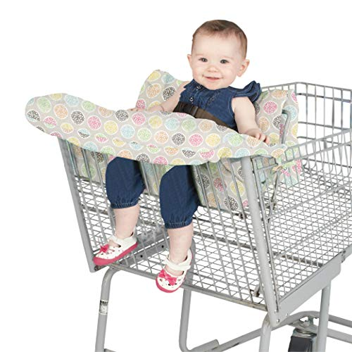(Nuby Flower Shopping Cart Cover High Chair Cover, High Chair Cushion, Baby Grocery Cart Cover, Infant High Chair Cover, Safety Harness, Cart Cover, Toddler, Universal Size, Essentials Pocket)