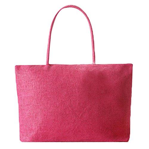 raphia Pt15 ¨¤ ensemble ¨¦t¨¦ occasionnels sac solide Abuyall grand sac de plage ¨¦paule unique paille armure femmes main 75RwTqBS