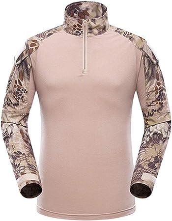 LUKHXF Táctico Juego De Los Hombres, Camisa De Airsoft Combat Hombres De Táctica Militar BDU Camiseta De Manga Larga Delgado (Color : K, Size : M): Amazon.es: Hogar