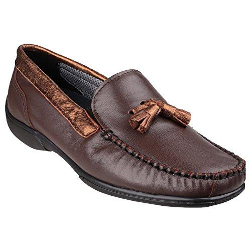 Cotswold Biddlestone Dames Mocassin / Chaussures Pour Femmes Marron / Bronze